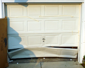 Wonderful Damaged Garage Door Panels